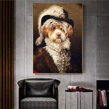 Милый джентльмен собака декоративная живопись животные настенная