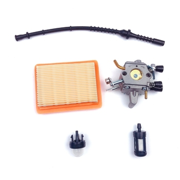 Carburetor Kit for Stihl FS400 FS450 FS480 String Trimmer Brush Cutter with Fuel Line Filter Primer Bulb Accessories 5pcs petrol snap in primer bulb fuel for chainsaws blowers trimmer carburetor