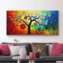 Древо жизни деньги дерево абстрактная живопись маслом на холсте