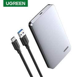 Ugreen HDD Case 2.5 6Gbps SATA Ke Usb C 3.1 Gen 2 Hard Drive Eksternal Kotak Aluminium Kasus HD untuk SATA Hard Disk SSD HDD Kandang
