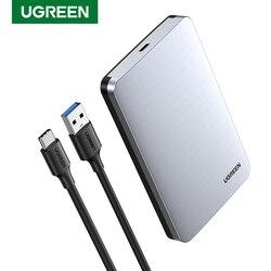 Ugreen HDD durumda 2.5 6Gbps SATA USB C 3.1 Gen 2 harici sabit disk kutusu alüminyum kasa HD Sata sabit disk SSD hdd muhafaza