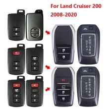 OEM Atualização Titular Caso Chave Shell Chave Do Carro Para Toyota Land Cruiser 200 FJ200 2008 2010 2011 2012 2013 2015 2016 2017 2019 2020