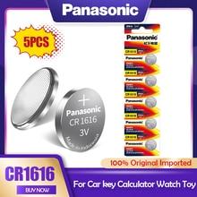 5 pces panasonic cr1616 cr 1616 3v baterias de lítio botão pilha moeda dl1616 br1616 ecr1616 kcr1616 5021lc l11 l28 para brinquedos relógio