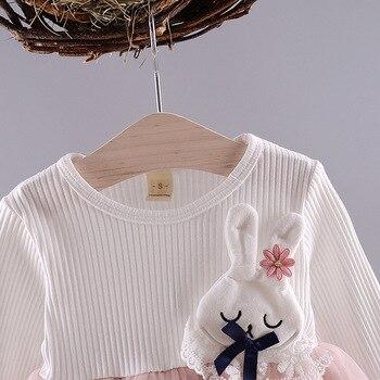 Baby Girl's Cartoon Rabbit Dress 5