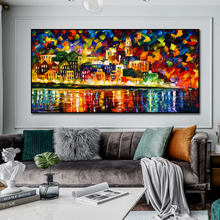 Urban Architectural Landscape Abstract Oil Painting Print On Canvas Nordic Poster Wall Art Picture For Living Room Home Decor