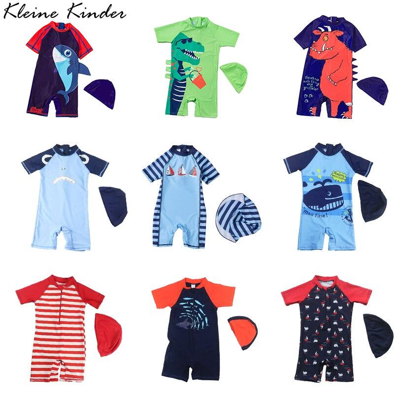Baby Badeanzug UV Schutz Schwimmen Anzug für Junge Cartoon Drucken Nette Kinder Bademode Jungen Bade Kleidung Beachwear Pool Schwimmen Anzug