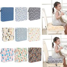 Square Booster Seat Highchair Pad Dining Chair Washable Thick Increasing Cushion for Kids Baby Toddler
