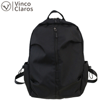 Cool Solid Men's Backpack Quality Waterproof Fabric Travel Backpacks for Men Simple Fashion Design USB Laptop Backpack Unisex