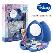 лучшая цена Disney Frozen Princess Makeup Set Girls Toys Cosmetic Pretend Play Lip Gloss Blush Eyeshadow Disney Makeup Toys For Girls