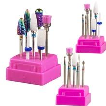 Cutters Drill-Bit-Set Cuticle Ceramic Nail Strawberries Nails-Accessories-Tool Manicure Pedicure