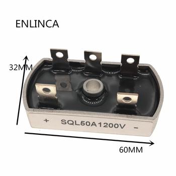 Oryginalny 50A 1200V aluminiowa metalowa obudowa 3 fazy diodowy mostek prostowniczy 50Amp SQL50A moduł SQL50A1200V tanie i dobre opinie Generator Bezpo¶rednio hole other Size Approx 60x31mm 2 36x1 22 quot