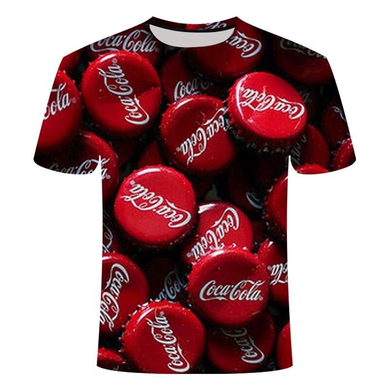 2018 Summer Casual 3D Print T shirt Coke Anime T-shirt Men Women Streetwear Short Sleeve Loose TopTee Tshirt Asian size s-6xl