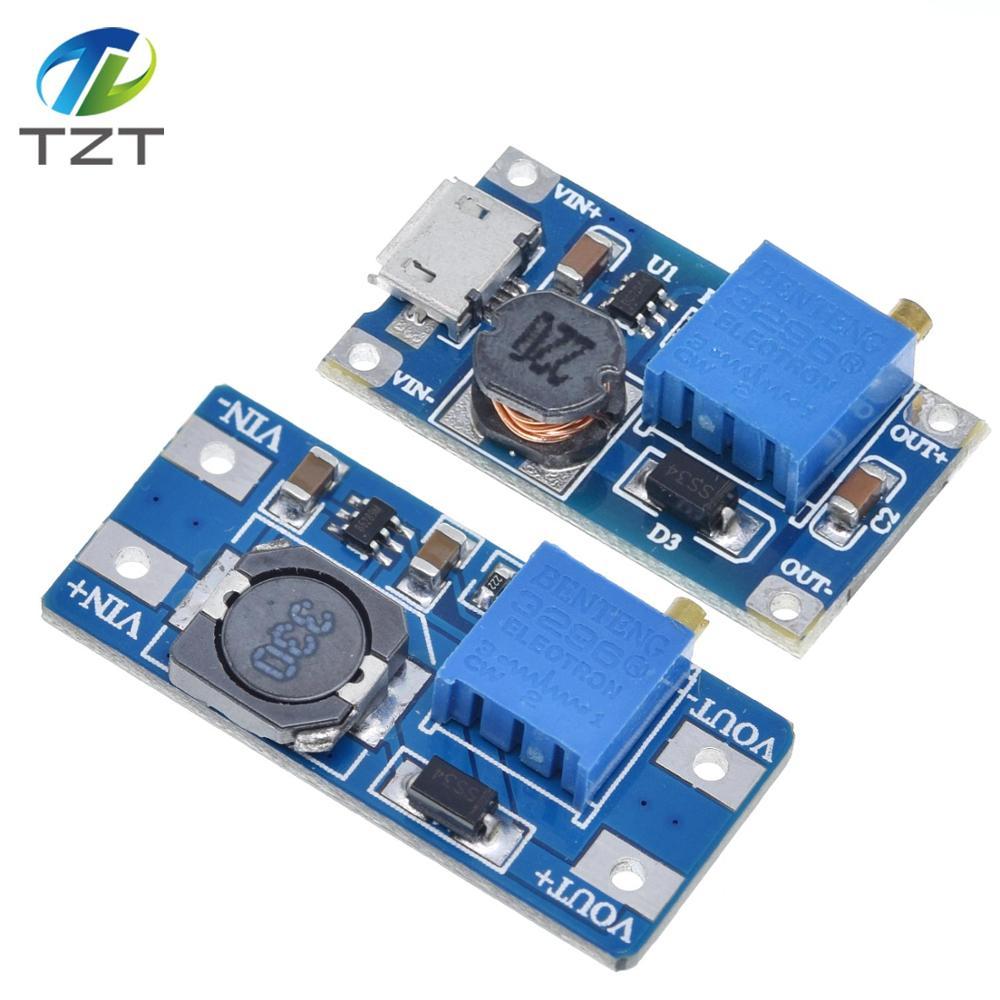 MT3608 DC DC Регулируемый Модуль Boost 2A Повышающий Модуль с микро USB 2 в 24в до 5В 9В 12В 28В|power module|dc-dc step upstep up | АлиЭкспресс
