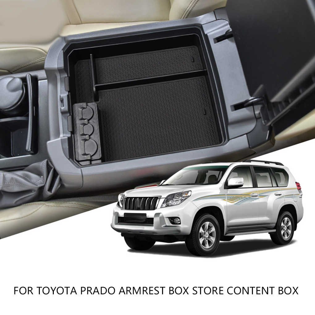Replacement For Toyota Prado 2010 2019 Center Console Insert Box Armrest Storage Tray Sundries Tidying Pallet|Stowing Tidying| |  - title=