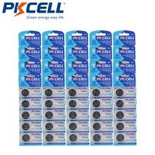 100 adet PKCELL CR2032 3V düğme hücresi 2032 BR2032 DL2032 SB T15 cr 2032 EA2032C ECR 2032 3V lityum pil madeni para piller 220mah