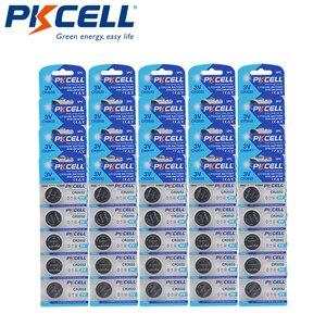 Image 1 - 100Pcs PKCELL CR2032 3V כפתור תא 2032 BR2032 DL2032 SB T15 cr 2032 EA2032C ECR 2032 3V ליתיום סוללה מטבע סוללות 220mah