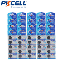 100Pcs PKCELL CR2032 3V button cell 2032 BR2032 DL2032 SB T15 cr 2032 EA2032C ECR 2032 3V lithium battery coin batteries 220mah
