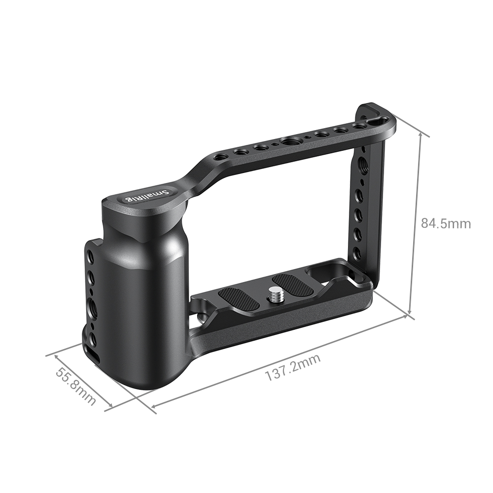 aluminum alloy SmallRig G9 Aluminum Alloy Cage for Panasonic G9 Cage With Arca Swiss Plate/Integreted Side Handgrip/NATO Rail-2411 (3)