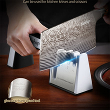 Knife Sharpener Professional Safe and Convenient Diamond 3 Stages  4 In 1 Scissors Kitchen Knife Quick Aid Tool