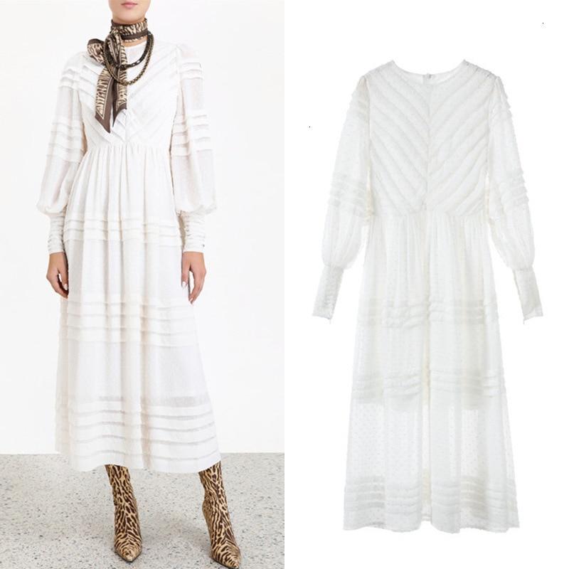 2019 herfst retro platter jurk hoge taille seaside vakantie jurk print jurk lange vrouwelijke zomer