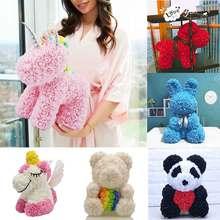Горячая Распродажа кролик, собака, панда, единорог, плюшевый медведь, роза, мыльный цветок, искусственная игрушка, рождественские подарки для женщин, подарок на день Святого Валентина
