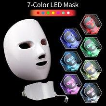 Masque Facial à lumière Led, thérapie photonique, 7 couleurs, Machine de beauté, Anti-acné, Anti-rides, blanchiment des taches, outils de soins de la peau