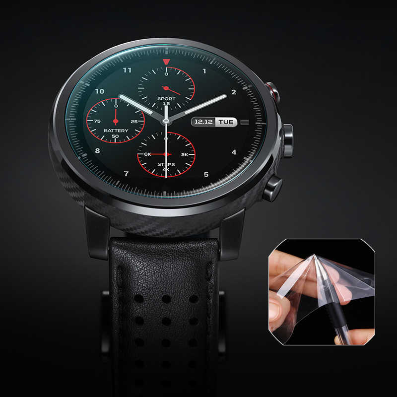 5 /3 /1 PCS Soft Full Screen Protector For Xiaomi Huami Amazfit Stratos 2s 2 Pace Bip Band 2 Verge GTR 3 Smart Watch Film Cover