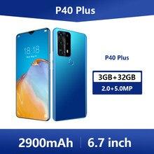 Originele P40 Plus Global Versie Mobiele Telefoons Ontgrendeld 3G & 4G Mobiele Telefoon 6.7