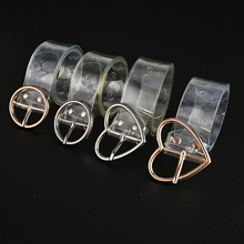 105cm Transparent Love Buckle Fashion Women's Belt Jeans Dress Waist Strap PVC Female Blet Ladies Round PVC Clear Belt on AliExpress