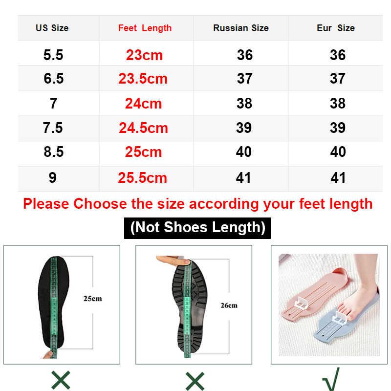 Aimeigao Mới Nhất Sexy Mắt Cá Chân Giày Bốt Nữ Thời Trang Bằng Sáng Chế Da Pu Đế Nữ Giày Nữ Plus Kích Thước Giày Cho Nữ
