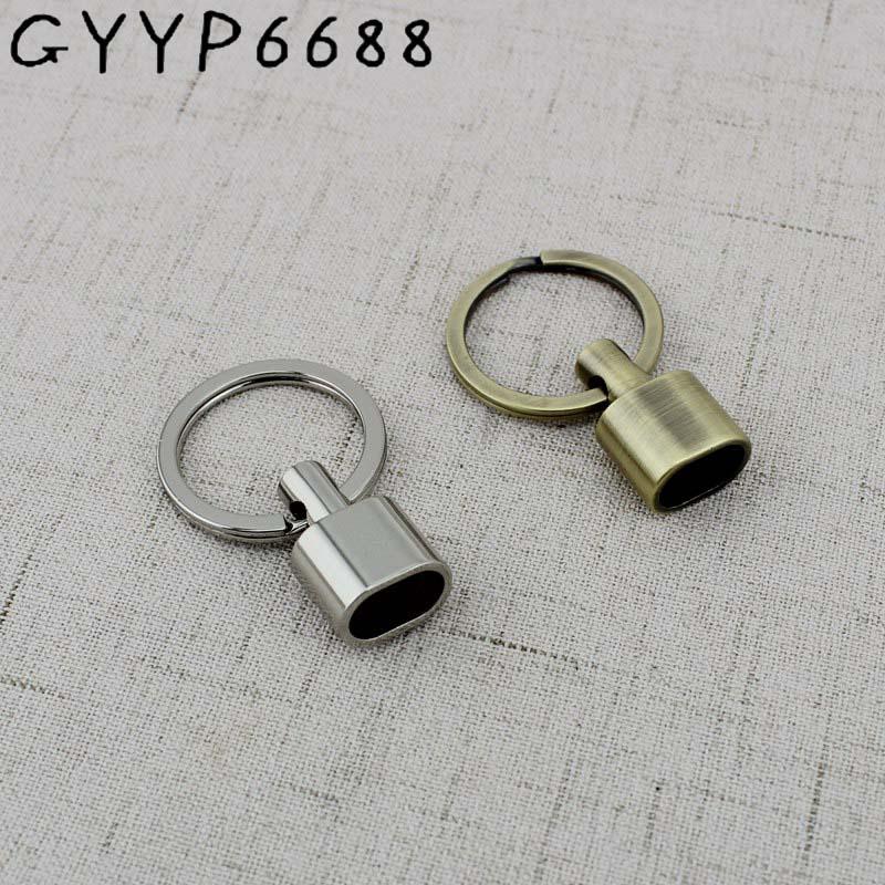 4pcs 30pcs Key O Ring Key Handmade Leather Luggage Accessories Hanging Keychain Chain Hook Pendant Key Fob Hardware