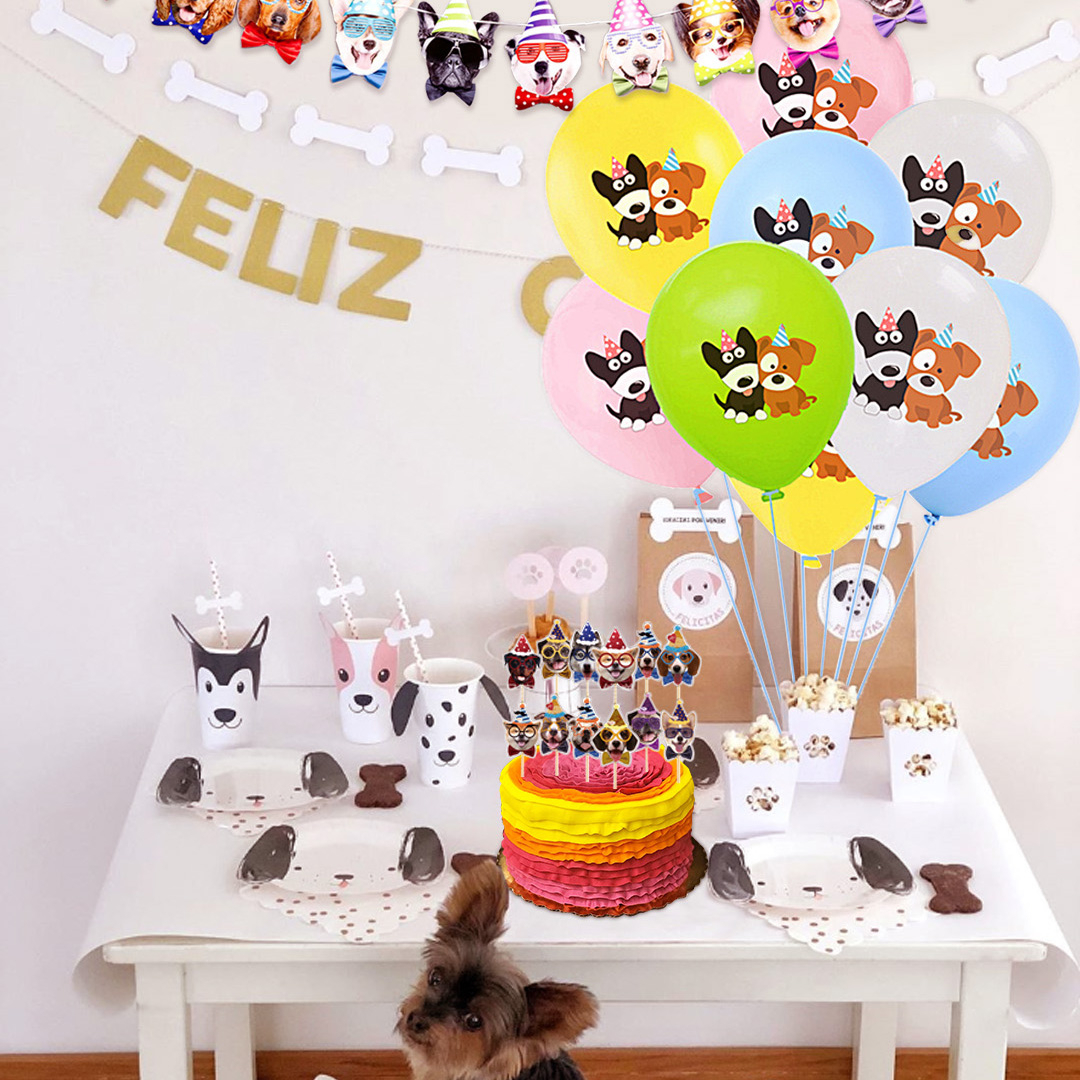 10pcs 12inch Cute Cartoon Dog Latex