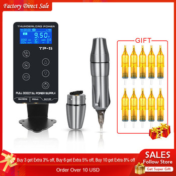 цена на TP-5 Touch Screen Professional Tattoo Power Supply Kit UPGRADE Power Supply Digital LCD Display Tattoo Power Supply