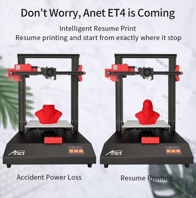 ANET ET4 and ET4 X 3D Printer with Filament Detection/Offline Printing and Color Touch Screen 13