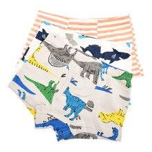 Boys Underwear Panties 3PCS Set Cotton Boys Briefs Dinosaur Truck Toddler Orange Striped Color Kids Underwear Children Boxers(China)