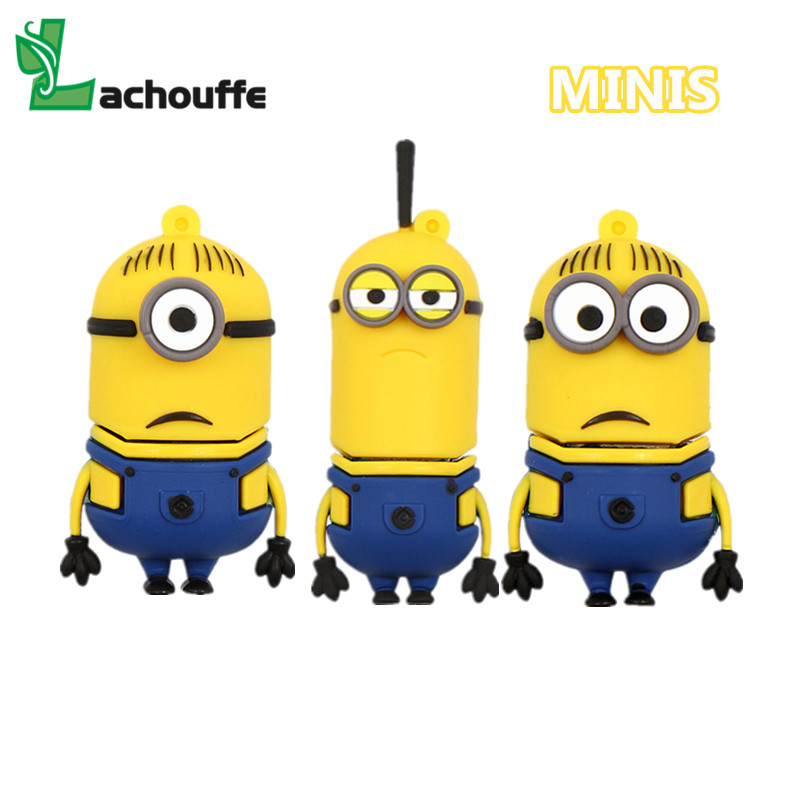 Despicable Me Cartoon Minions USB 3.0 Flash Drive 4G 8G 16G U Disk Pendrive/Memory Stick/Disk/pen Drive/Gift