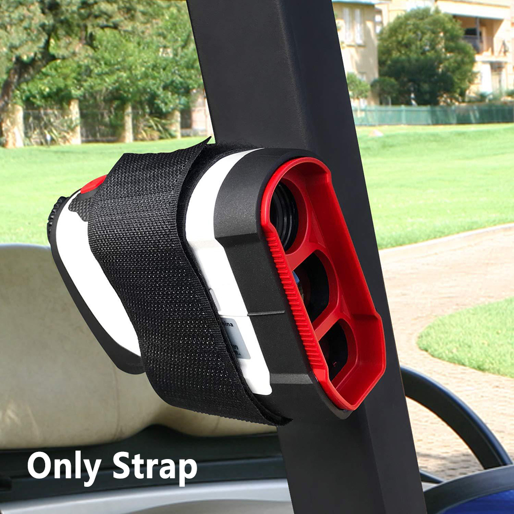 Golf Cart Railing Stable GPS Bar Strong Magnetic Rangefinder Strap Attachment Accessory PU Leather Portable Easy Stick Holder