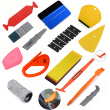 FOSHIO Carbon Fiber Magnet Stick Squeegee Vinyl Wrap Car Tools Set Auto Window Tint Tool Film Install Sticker Wrapping Scraper