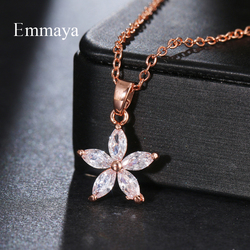 Emmaya New Fashion Shiny Star Appearance Neckalce For Women&Girls Popular Dress-Up Three Color Choice In Banquet Cute Jewelry