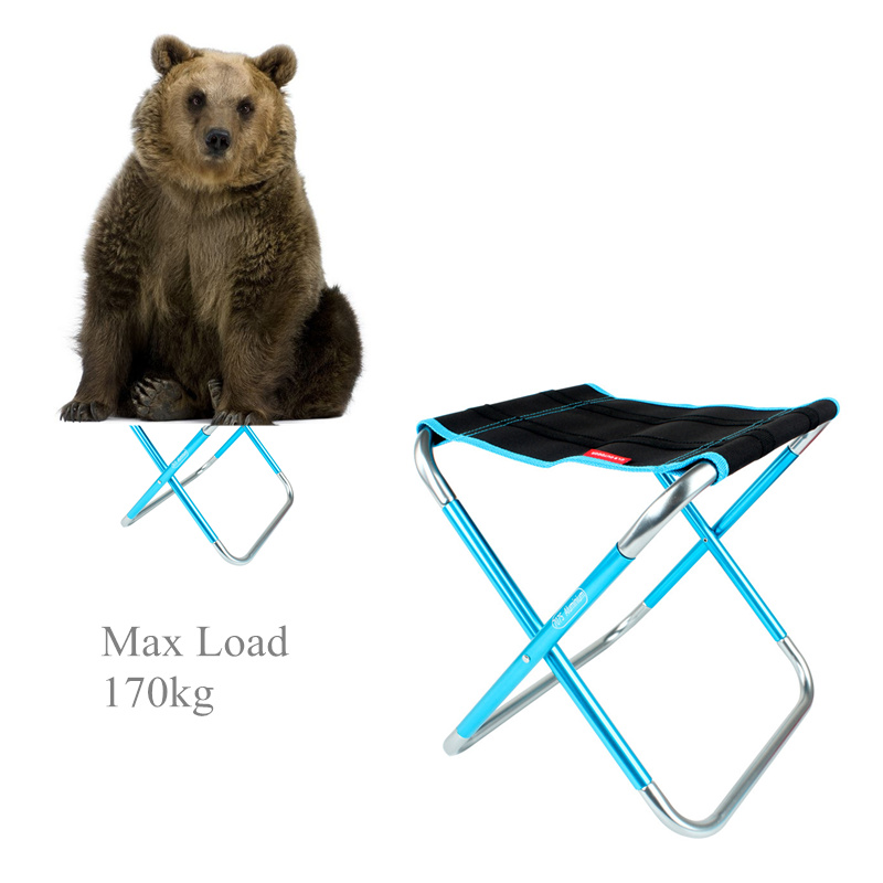 Outdoor Folding Tourist Chair Portable Aluminum  Fishing Stool Chair Beacnh Hiking Picnic Ultralight Camp Chair