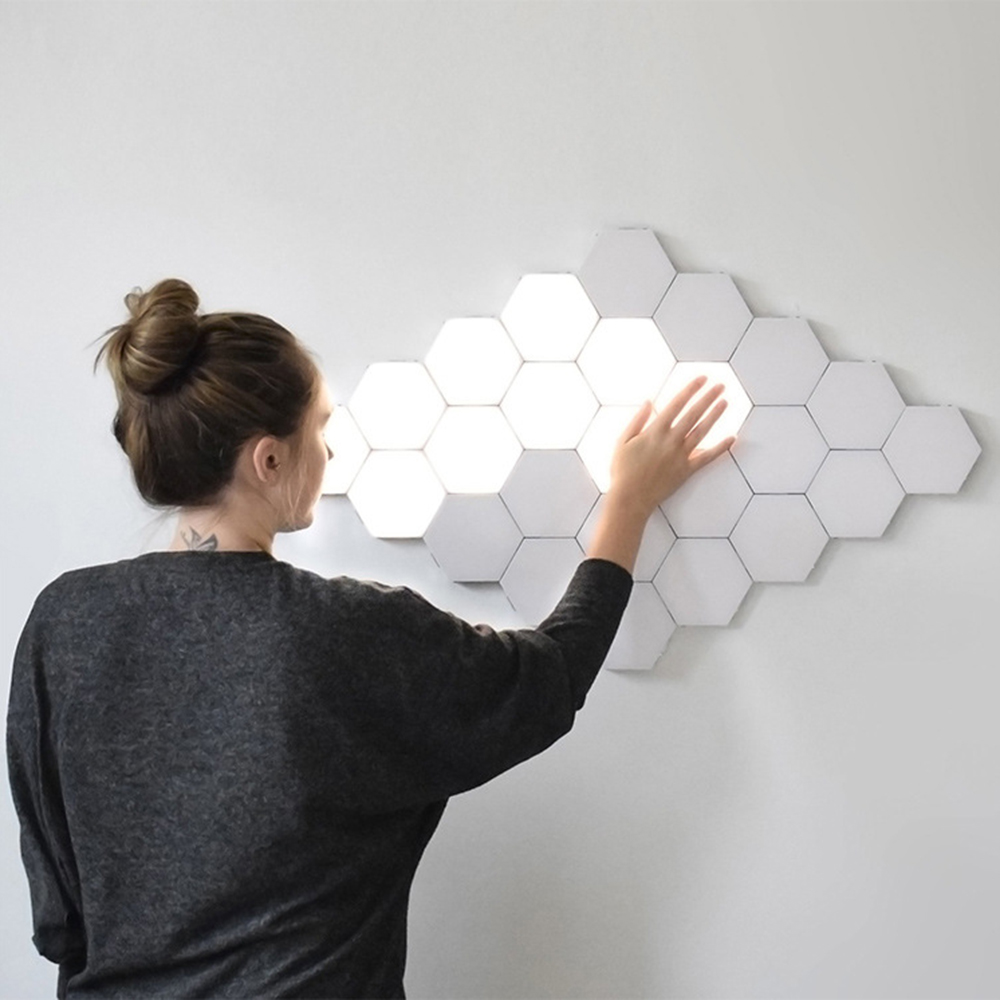 Quantum Lamp Hexagonal Lamps LED Wall Light Modular Touch Lighting LED Night Light Creative DIY Combination Indoor Decoration