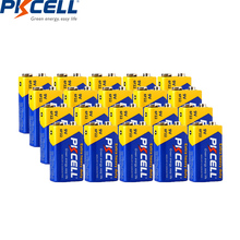 20PC PKCELL 9V 6F22 Equal to CR9V ER9V 6LR61 batteries Extra heavy duty Carbon Zinc Battery 9 Volt Battery for Toy Remote Contro