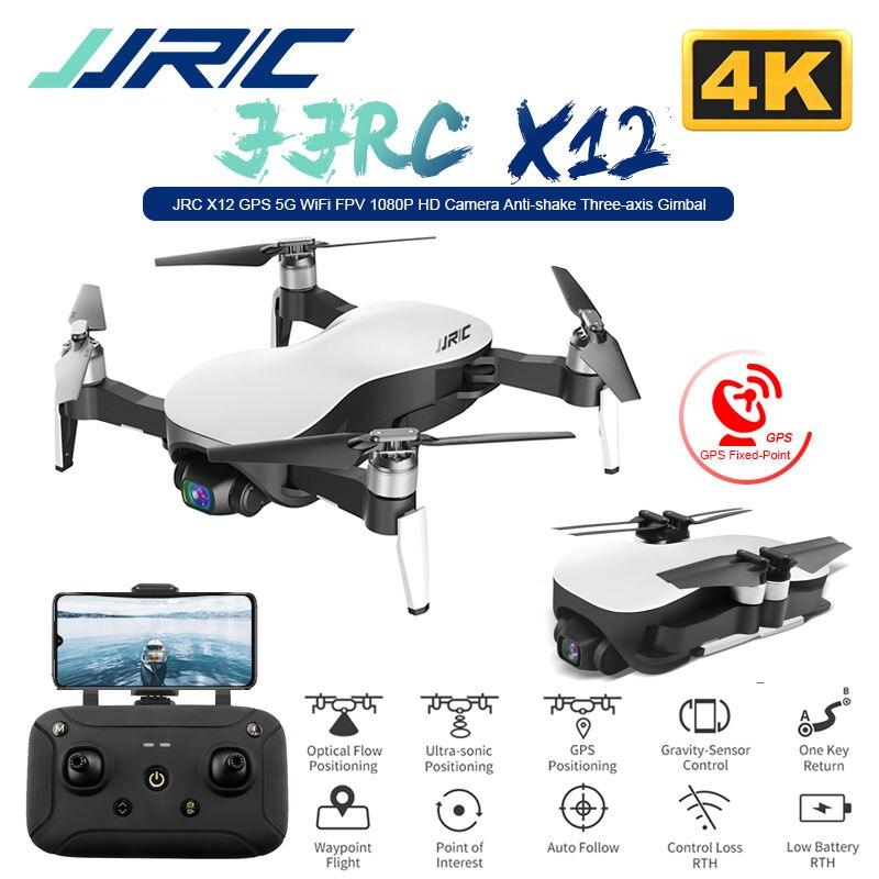 JJRC X12 Anti-shake 3 Assi Gimble GPS Drone con il WiFi FPV 1080P 4K HD Camera Brushless motor Pieghevole Quadcopter Vs H117s Zino