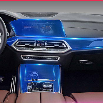 TPU Interior Sticker Transparent Invisible Protective Film Paper for Car Interior Repair Film Modification for BMW X5 2019 image