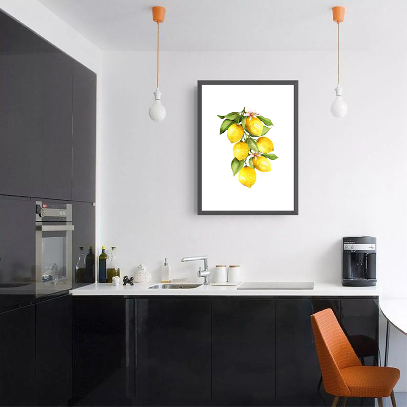 Lemon Poster Home Kitchen Wall Decor