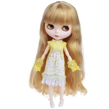 Blyth Doll Blyth Matte Face Frosted White Skin 1/6 BJD Ball Jointed Doll Hand Set Custom Dolls for Girl Gift for Doll Collection [wamami] for 12 neo blyth doll 7 joints purple short wig matte face