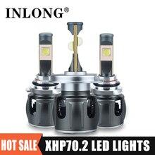 الأصلي Xhp70.2 H7 led في canbus H1 9005 9006 الصمام العلوي لمبة H11 H8 h9 Led مصباح 9012 HB3 HB4 20000LM كشافات الضباب أضواء 6000K