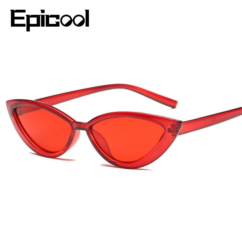 Epicool Plastic Frame Sunglasses Women Cat Eye Sun Glasses Classic Retro Ocean Lens Sunglasses Ladies Fashion Oculos