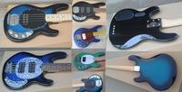Envío Gratis Qulity superior Bongo hombre musical Metal negro 6 cuerdas pastillas activas bajo guitarra Musicman guitarra