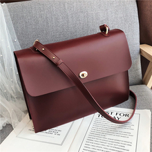 Burminsa Vintage Briefcase Shoulder Bags For Women Large Capacity A4 Portfolio Work Bags High Quality Ladies Crossbody Bags 2020